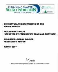 Conceptual Understanding of the Water Budget